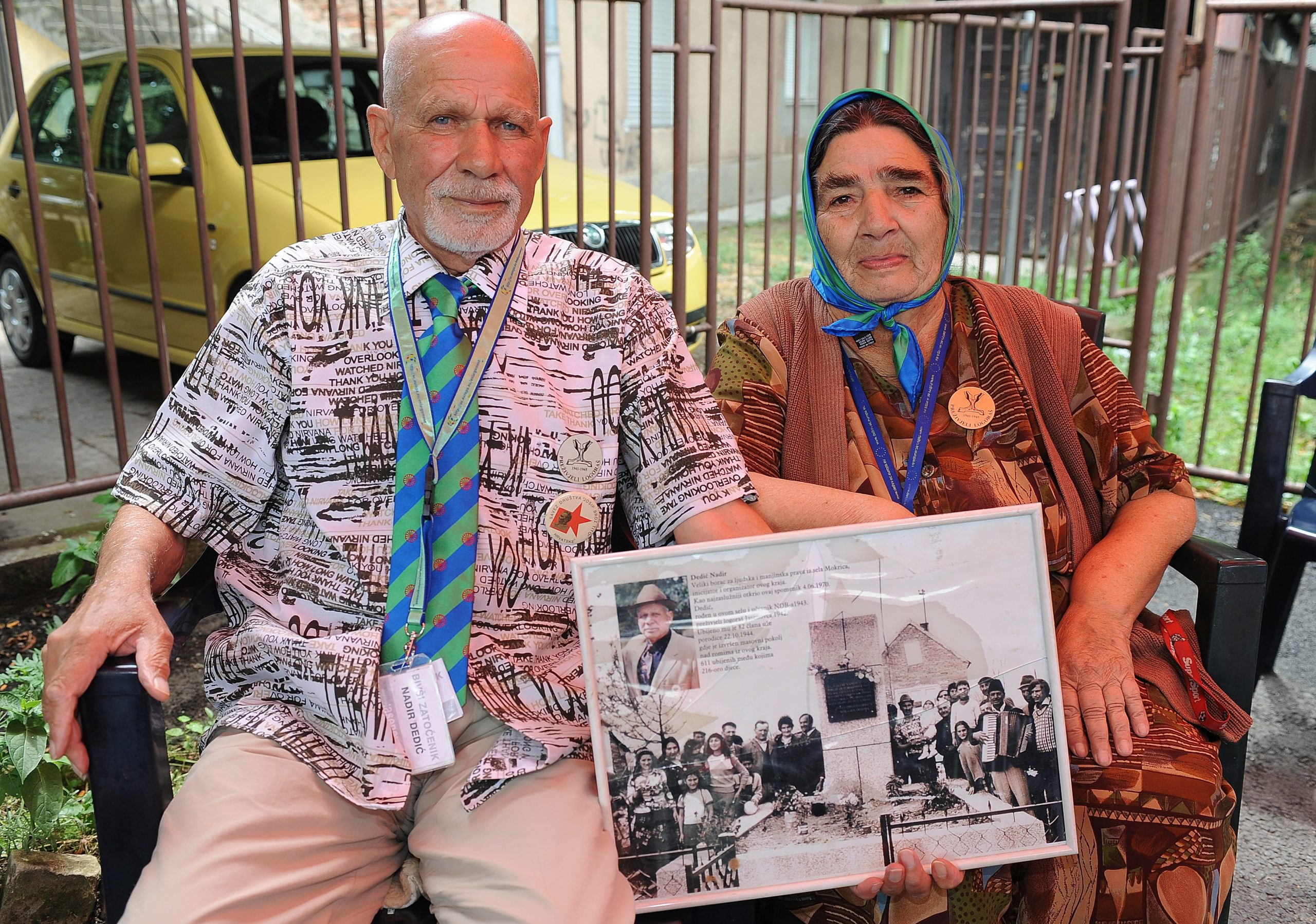 Nadir and Fatima Dedic, Roma survivors of the Jasenovac concentration camp, July 2010