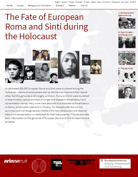 Website romasintgenocide.eu
