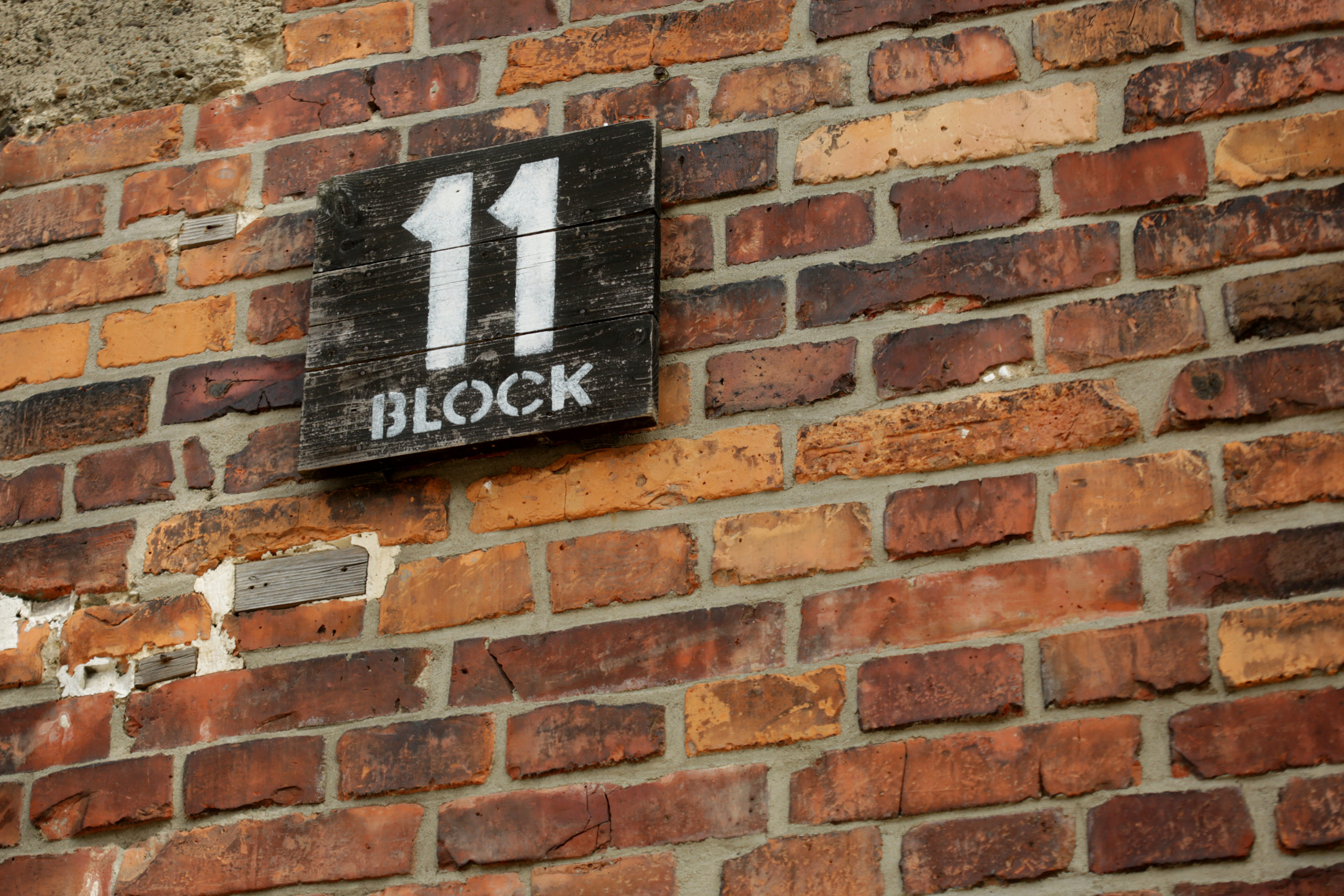 Sign of Block 11; photo taken by Jaroslaw Praszkiewicz.