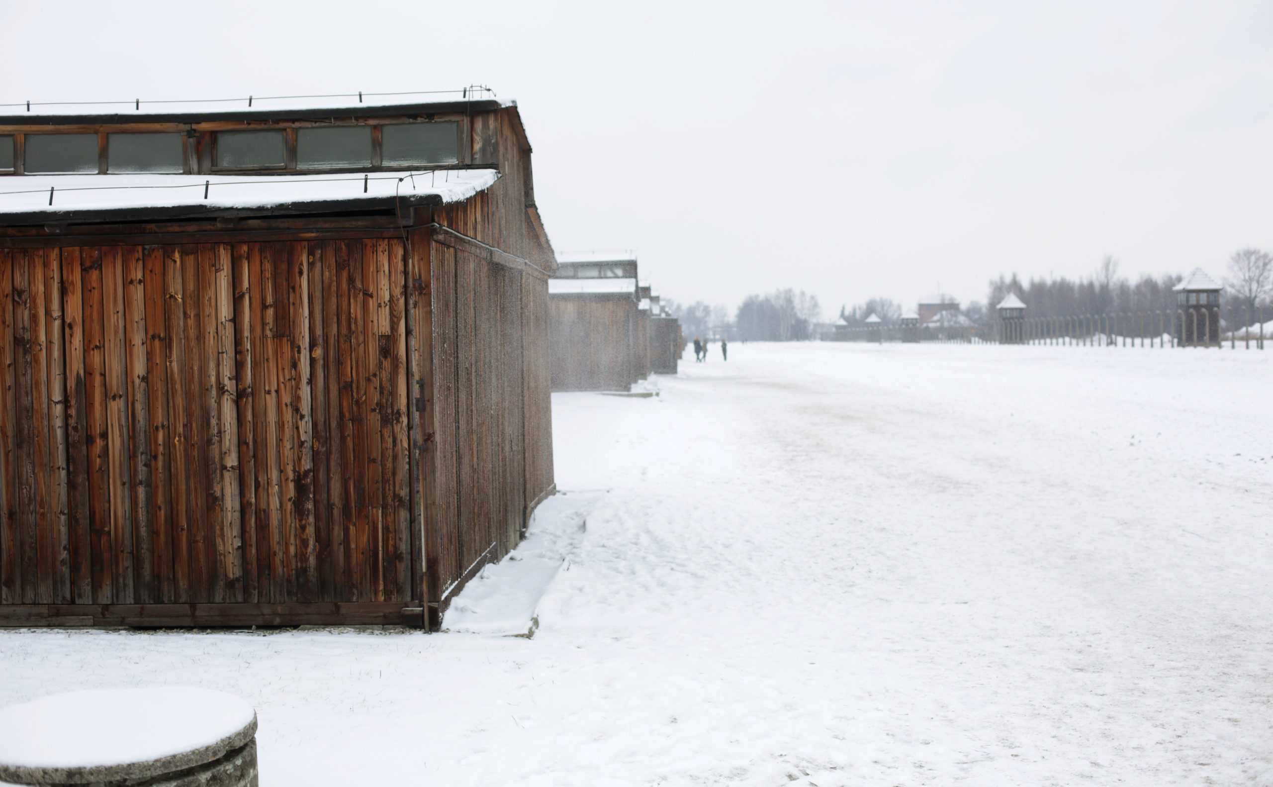 The barracks of quarantine in KL Auschwitz II-Birkenau; photo taken by Jaroslaw Praszkiewicz.